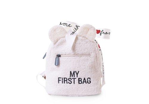 Childhome Childhome Rugzak My First Bag Teddy Ecru