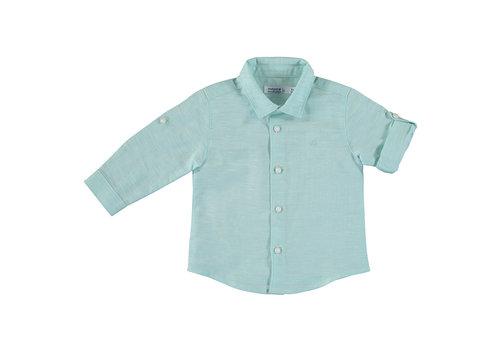 Mayoral Mayoral Basic Linen L/S Shirt Aqua 117-76