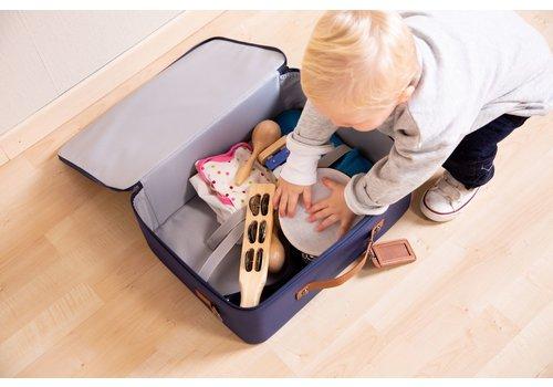 Childhome Childhome Mini Traveller Valiesje Blauw/Wit