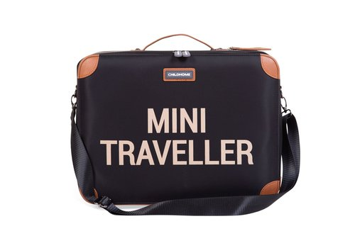 Childhome Childhome Mini Traveller Valiesje Zwart/Goud