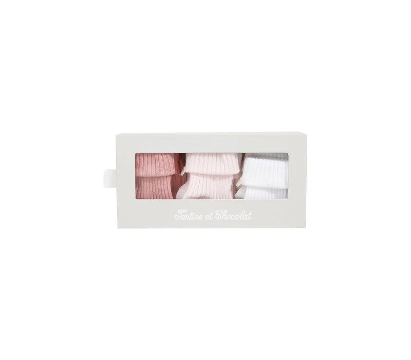 Tartine & Chocolat Kit chaussettes Rose Pâle TS99091-31