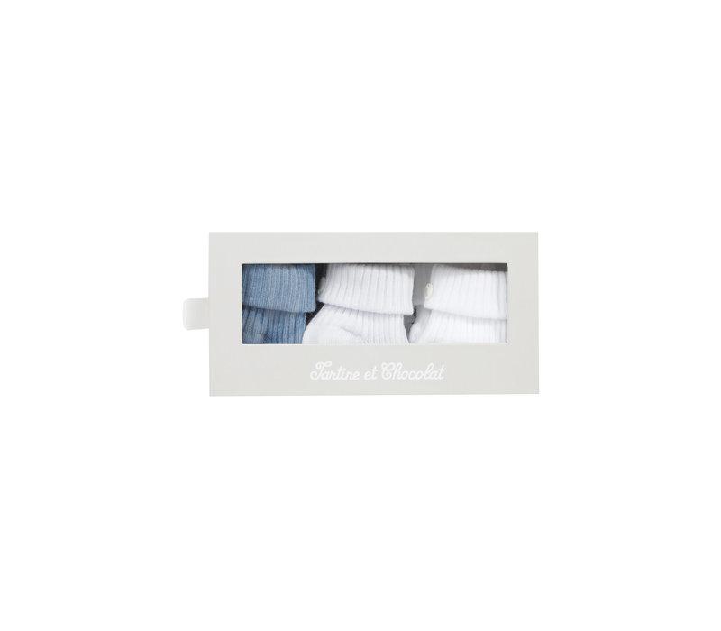 Tartine & Chocolat Kit chaussettes Bleu Ciel TS99091-41