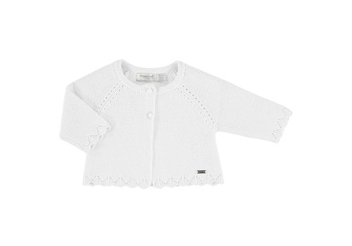 Mayoral Mayoral Basic Knit Long Cardigan White 325-85