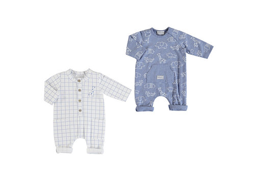 Mayoral Mayoral Long Without Footie Onesie Selight Blue 1633-23