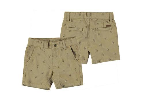 Mayoral Mayoral Micro Printed Shorts Camel 1247-7