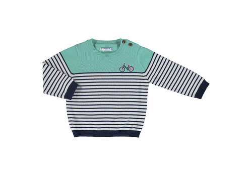 Mayoral Mayoral Striped Sweater Aqua 1340-39