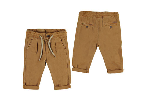 Mayoral Mayoral Linen Relax Pant Caramel 1580-85