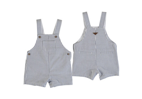 Mayoral Mayoral Linen Striped Short Overall Nautical 1662-3