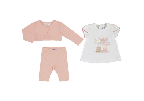 Mayoral Mayoral Leggings Set (3 Garments) Pink 1706-46