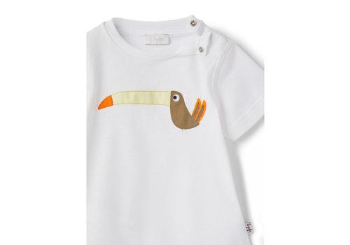 Il Gufo Il Gufo T-Shirt S/S White/Crocodile Green