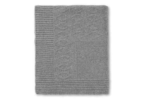 My First Collection First Lisa Knitted Plaid Cashmere 150x110 Grey