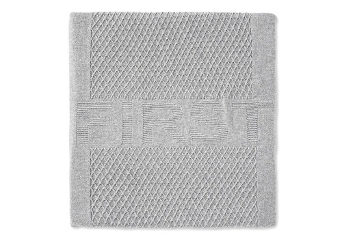 My First Collection First Lois Knitted Plaid Cotton 140x100 Grey