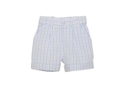 Patachou Patachou Boy Shorts - Woven Blue Check