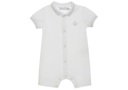 Patachou Patachou Baby Boy Romper - Knit White