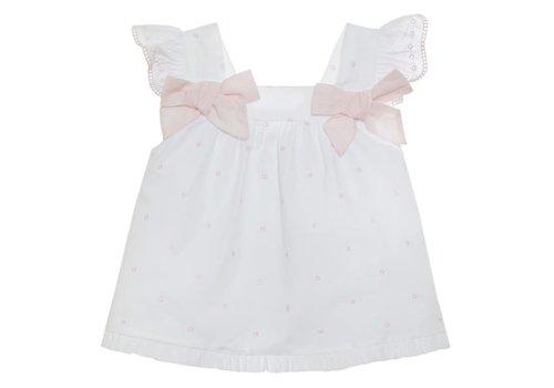 Patachou Patachou Baby Girl Top - Woven Pink Dots