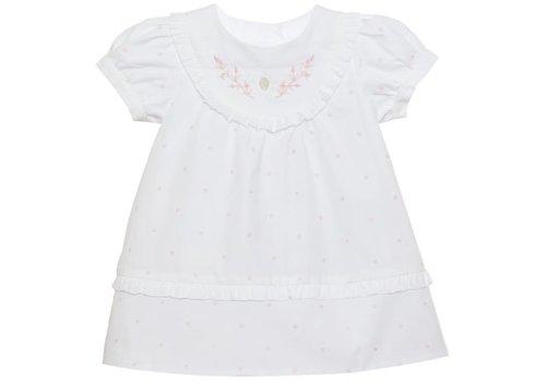 Patachou Patachou Baby Girl Dress - Woven Pink Dots