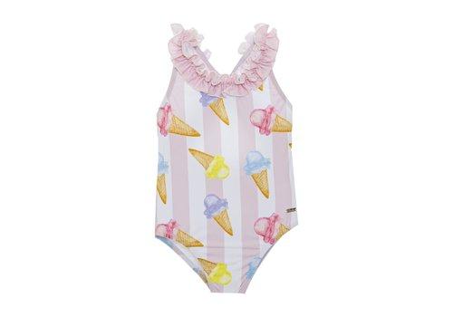 Patachou Patachou Girl Swimsuit Knit Ice Cream Stripes