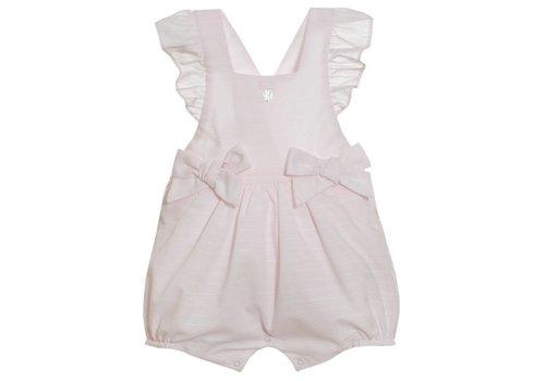 Patachou Patachou Baby Girl Romper Woven Light Pink Stripes