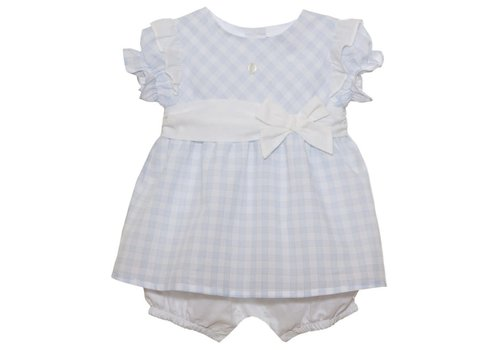 Patachou Patachou Baby Girl Romper Woven Blue Vichy