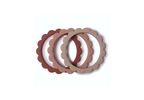 Mushie Mushie Flower Bracelet Blush/Rose/Sh.Sand