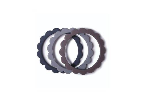Mushie Mushie Flower Bracelet Steel/Dark Gray/Stone