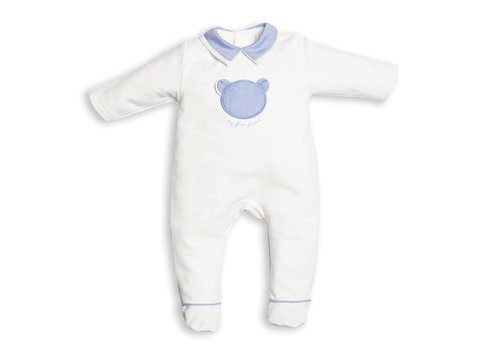 My First Collection First Bo B White Combi Blue Teddy On Frontside 0121White-Avia