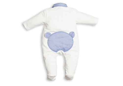My First Collection First Fo B White Combi Blue Teddy On Backside 0121White-Avia