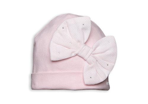My First Collection First G Pink Bonnet Xl Bow 04  Pink