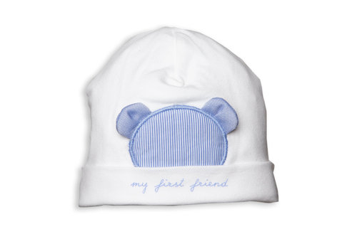 My First Collection First B White Bonnet Blue Xl Teddy 0121White-Avia