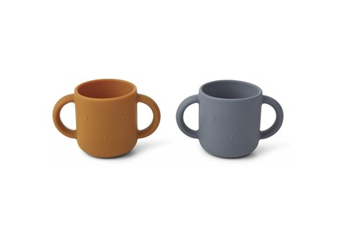 Liewood Copy of Liewood Gene Silicone Cup - 2 Pack Rabbit Faune Green