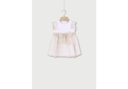 Liu Jo Liu Jo Dress White Shiny Tulle Glitter