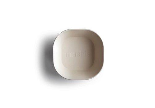 Mushie Mushie Bowl Square - Ivory 2Pcs