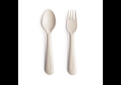 Mushie Mushie Fork & Spoon - Ivory