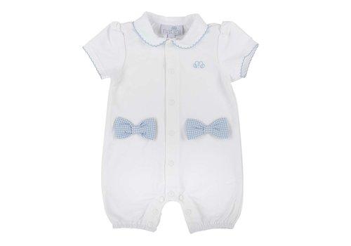 Natini Natini Bodysuit Bow Vichy White Blue
