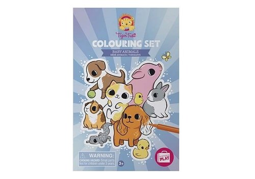 Tiger Tribe Tiger Tribe Colouring Set/Baby Animals