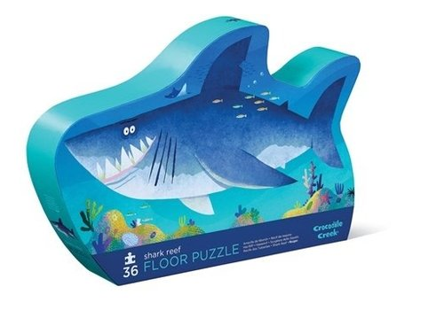 Crocodile Creek Crocodile Creek 36 pc Shaped Puzzle/Shark Reef