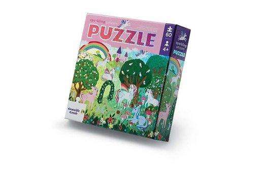 Crocodile Creek 60-pc Foil Puzzle/Sparkling Unicorn