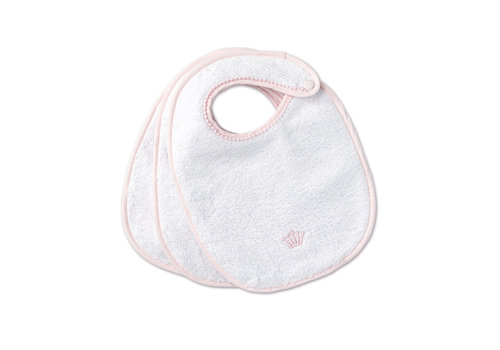My First Collection First Set Of 3 Bibs White - Pink