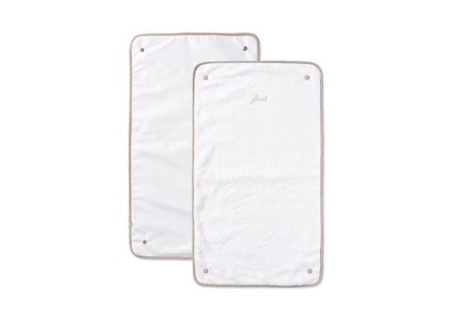 My First Collection First Alixis Changing Pad Extra Towels White Beige