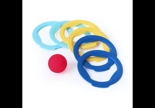 Quut Quut Ringo 6 Rings + 1 Ball Blue-Yellow-Vintage Blue