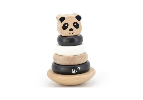 Label-Label Label Label - Stacking Rings Balance - Panda Black & White