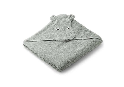 Liewood Liewood Augusta Hooded Towel Hippo Dove Blue