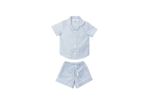 Cotolini Cotolini Pyjama Fille Short Marie Rayure Ciel Rayure Ciel Panama