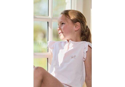 Cotolini Cotolini Pyjama Fille Short Lauriane Rose Fleurie Fleurs Maille + Popeline