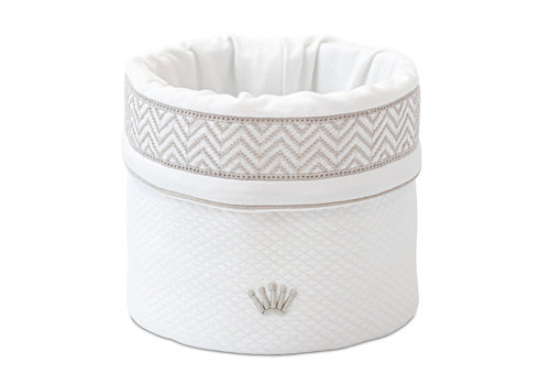 My First Collection First Dixie Vanity Basket White Beige