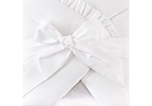 Theophile & Patachou Theophile & Patachou Doopdeken Voetenzak 75x75Cm Gewafeld Cotton White