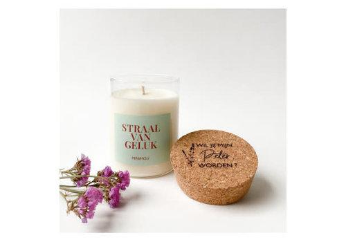 Minimou Copy of Minimou Handmade Vegan Candles - Wil Je Mijn Meter Worden - Rosewood Velvet