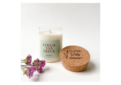 Minimou Minimou Handmade Vegan Candles - Wil Je Mijn Peter Worden - Rosewood Velvet