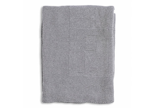My First Collection First Liam Knitted Blanket Cotton Grey