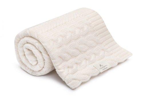 my memi my memi Braided 100% Natural Merino Wool Blanket Cream - Premium Collection